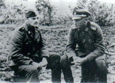 Martinsen s novinářem Helwegem Larsenem