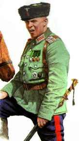 Poručík (chorunžij - Хорунжий) kozácké jednotky