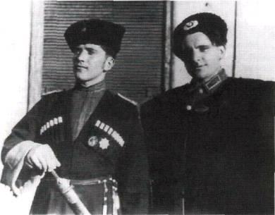 Kozáci důstojníci 1. kozácké jezdecké divize