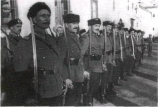 Kozáci doprovodné kolony generála von Pannwitze