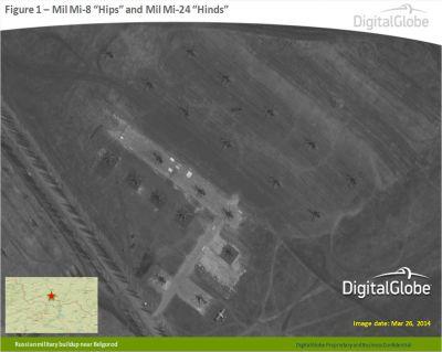Ruské vrtulníky u Belgorodu