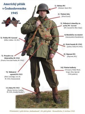 Americký voják Československo, 1945