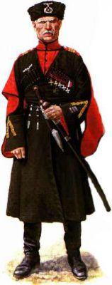 Wachmeister doprovodné kolony generála von Pannwitze v přehlídkové uniformě