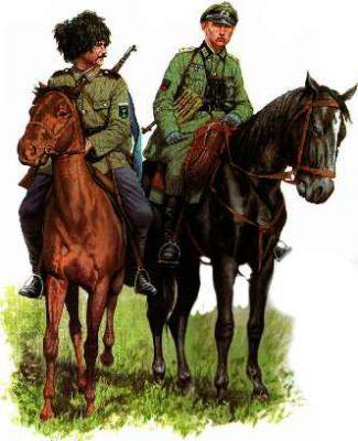 Poddůstojník (urjadnik - урядник) 360. kozáckého granátnického pluku majora von Rintelena