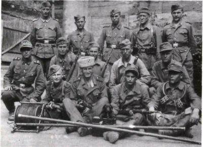 Skupina kozáků 2. sibiřského pluku 1. kozácké jezdecké divize