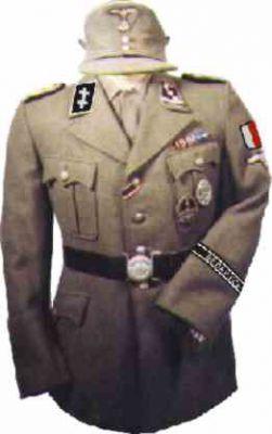 SS-Obersturmführer z 1. SS Sturmbrigade Belarus (30. SS Division)