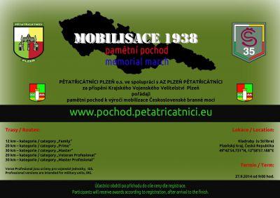Leták pochod Mobilisace 1938