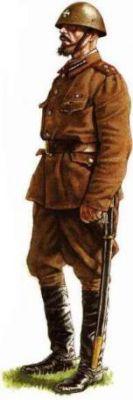 Poručík dělostřelectva Ruského strážního sboru v roce 1942