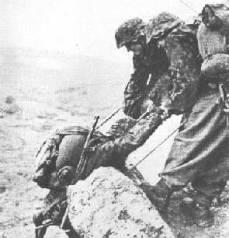 Vojáci 24. Waffen Gebirgs Division der SS Karstjäger