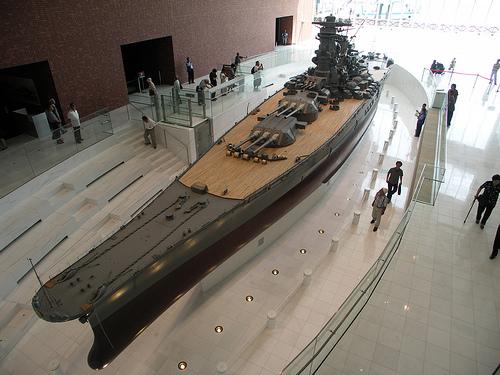 Jamato v Japanese Naval Museum (Zdroj: ship.qlip.jp)