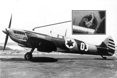 Spitfire LF Mk.IX E 105 perutě v roce 1953