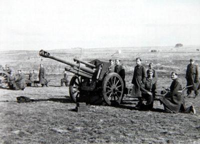 Výcvik ve střelbě ze 105 mm houfnice