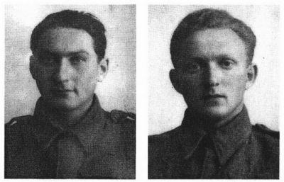 Norberet a Walter Lanzerové, dva z padlých v hořké bitvě o Sokolovo.