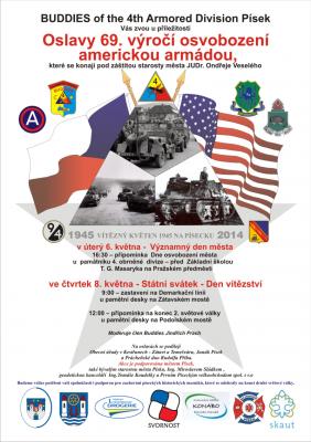 Oslavy 69. výročí osvobození města Písku a okolí americkou armádou