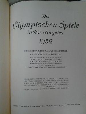 Die Olympischen Spiele in Los Angeles 1932