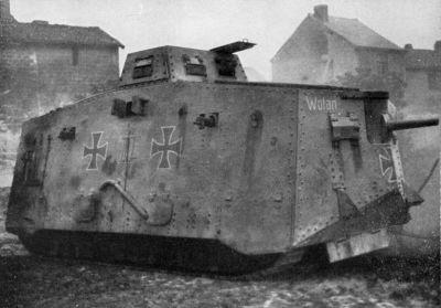 """Tank A7V č. 563 zvaný """"Wotan"""""""