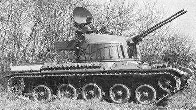 Francouzská věž DCA na šasi tanku AMX-30