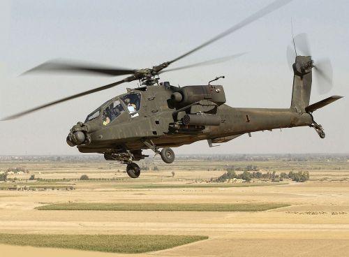 Americký AH-64D v Iráku
