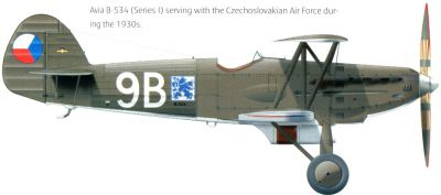 Avia B-534 1. provedení