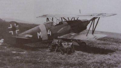 Avia Bk-534 slovenského letectva patříci 13. letce. Východní fronta.