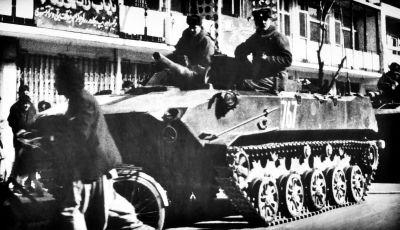 Bojové vozidlo výsadku BMD-1 kdesi v afghánském Kábulu
