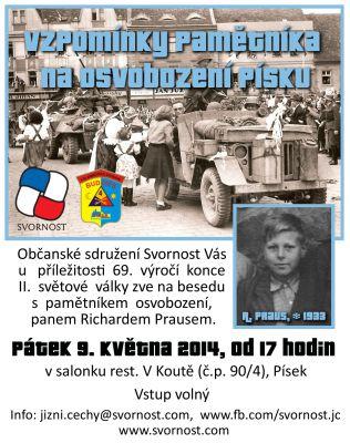 Vzpomínky pamětníka na osvobození Písku (9.5.2014)