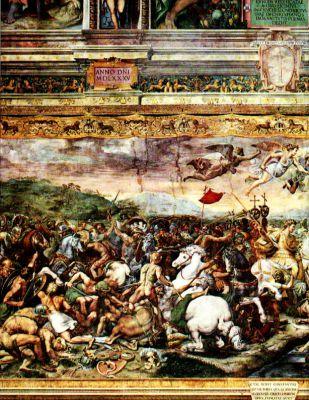 Bitva u Milvijského mostu od Giulia Romana