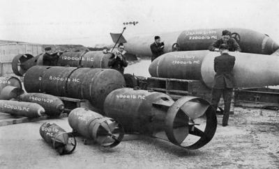 Výstava leteckých bomb užívaných RAF v období druhé světové války