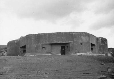Pěchotní srub T-S 56 u Trutnova v říjnu 1938