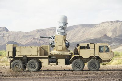Systém Centurion na podvozku automobilu Oshkosh