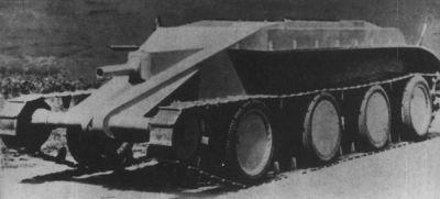 Prototyp tanku Christie M1932 při zkouškách