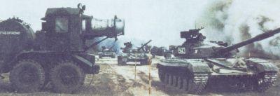 Dekontaminace tanku T-64