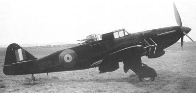 Prototyp nočního stíhacího Defiantu NF Mk II s radiolokátorem