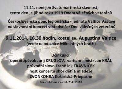 Slavnostní koncert ke Dni válečných veteránů (9.11.2014)