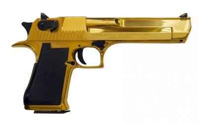 Desert Eagle v luxusním zlatém provedení