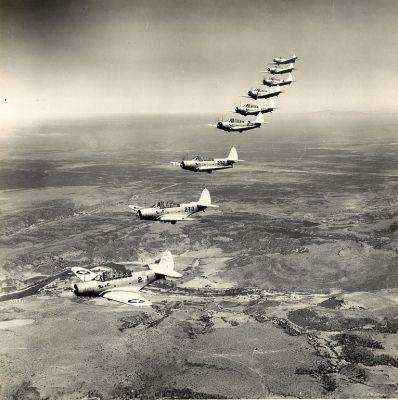 Devastatory jednotky VT-2 z letadlové lodi USS Lexington v lednu 1941