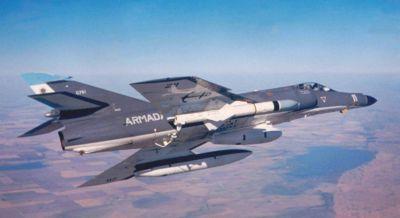 Argentinský letoun Super Étendard se střelou Exocet AM39
