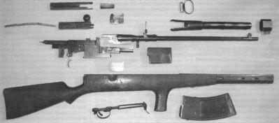 Rozborka 6,5mm automatické pušky systému Fjodorov