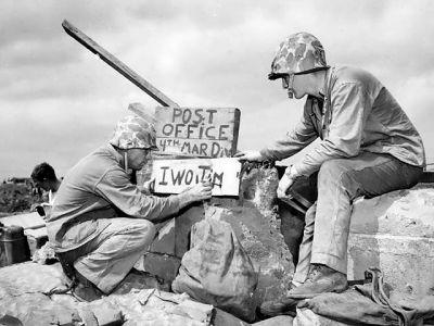 Pošta námořní pěchoty - Iwo Jima