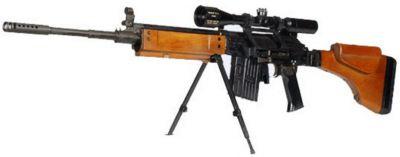 Odstřelovačská puška Galil Sniper čili Galatz ráže 7,62 mm