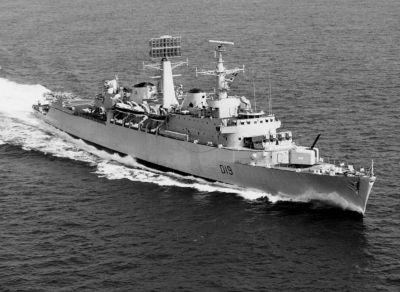 Torpédoborec HMS Glamorgan, cíl posledního útoku z 12. června 1982