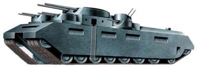 Návrh tisícitunového tanku inženýra Eduarda Grotteho.