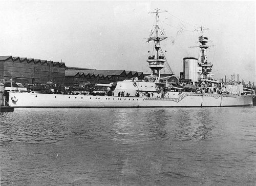 HMS Furious před přestavbou na letadlovou loď