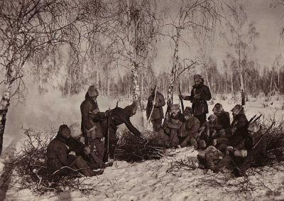 Hlídka československý legionářů na Rusi