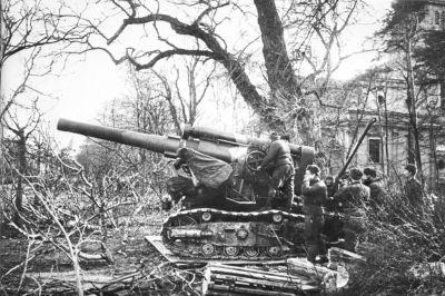 Bojové nasazení 203mm houfnice B-4 v dnešním Polsku
