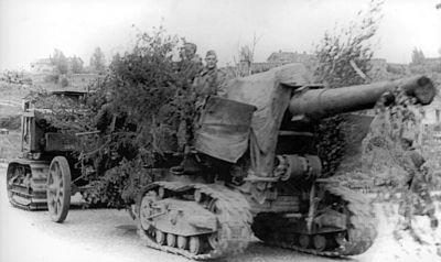 203mm houfnice vzor 1931 vyžadovala výkonné tahače