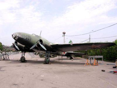 Dochovaný bombardér Iljušin Il-4 v ruském Národním leteckém muzeu