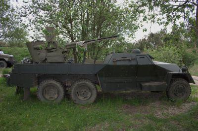 Protiletadlový dvojkanon vz. 53/59 Ještěrka ve vojenském muzeu v Rokycanech (foto: Petr Valach)