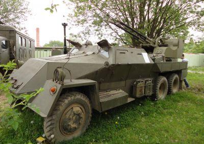Protiletadlový systém vz. 53/59 Ještěrka ve vojenském muzeu v Rokycanech (foto: Josef Bulava)