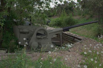 Sejmutá zbraňová část protiletadlového systému vz. 53/59 Ještěrka ve vojenském muzeu v Rokycanech (foto: Petr Valach)